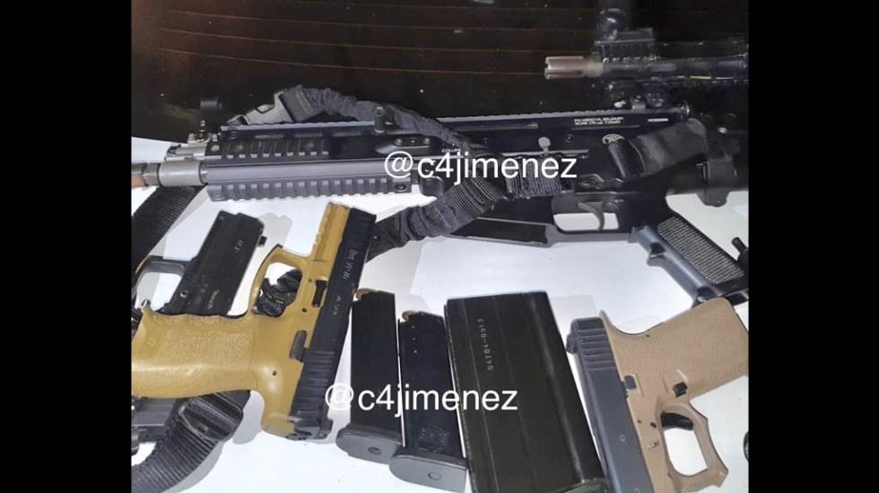 Detienen a cuatro presuntos militares por robo en Colima - Armas militares colima robo