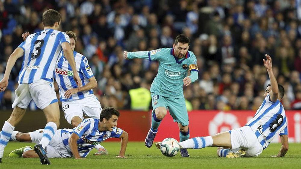 Barcelona podría perder liderato en LaLiga tras empate con Real Sociedad - Real Sociedad y Barcelona empatan con polémica arbitral