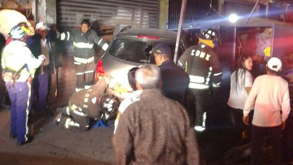 Automovilista atropella a seis personas en la colonia Morelos - Choque y atropello en la colonia Morelos. Foto de @SGIRPC_CDMX
