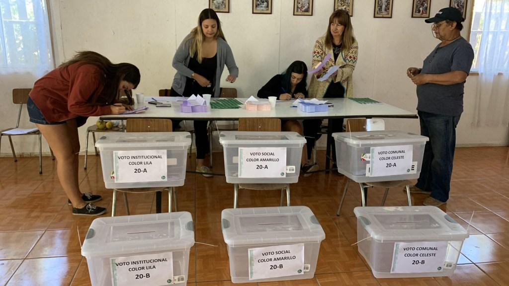 Chilenos opinan en consulta ciudadana sobre nueva Constitución - Consulta ciudadana en Chile. Foto de @impudahuel