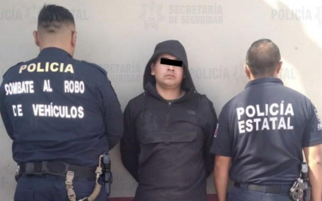 Tras persecución y balacera, recuperan auto robado en Ecatepec - Foto de @SS_Edomex