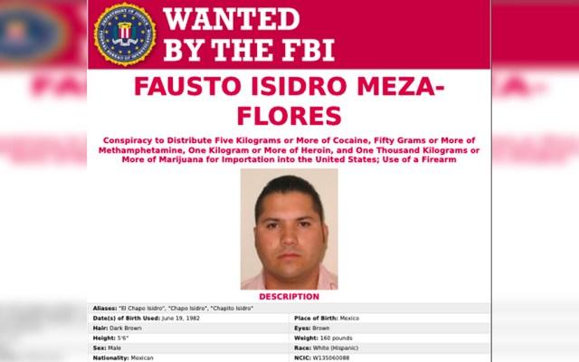 EE.UU. acusa de narcotráfico a 'Chapo' Isidro, mano derecha de Alfredo Beltrán Leyva - Isidro Flores Meza