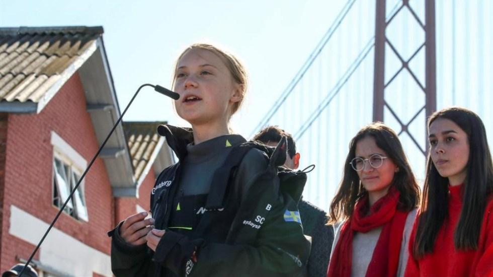 Seguiré luchando por nuestro futuro: Greta Thunberg tras llegar a Lisboa - Greta Thunberg