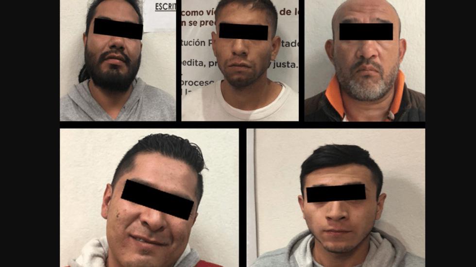 Detienen a cinco presuntos ladrones de centro comercial de Ciudad Satélite - Foto de Secretaría de Seguridad Estado de México