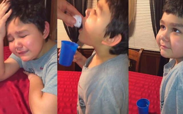 #Video Niño rompe en llanto al terminar tratamiento contra el cáncer - Llanto de Norman al finalizar tratamiento contra la leucemia. Captura de pantalla