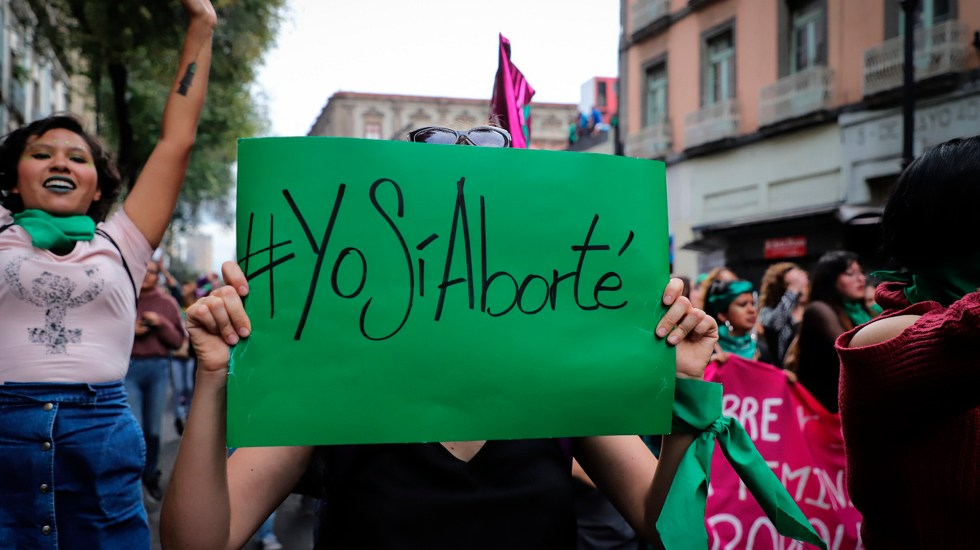 Gobierno de México descarta impulsar la despenalización del aborto - Manifestación a favor del aborto legal, gratuito y seguro en todo México. Foto de Notimex