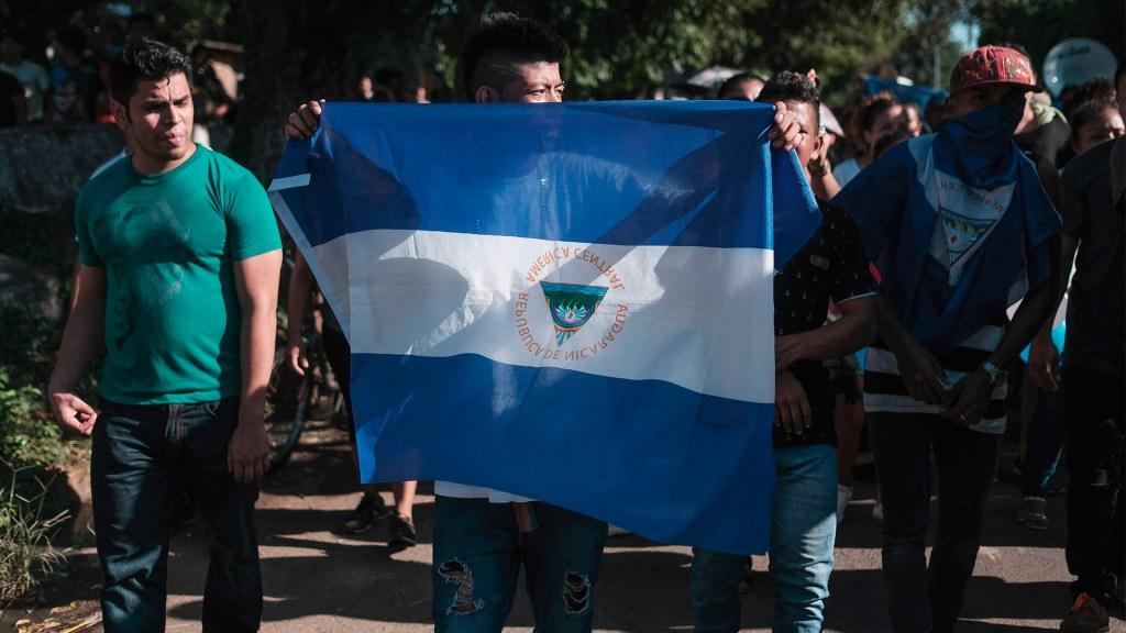 México externa a Nicaragua preocupación por detención de precandidatos y opositores - Manifestación en Nicaragua. Foto de EFE