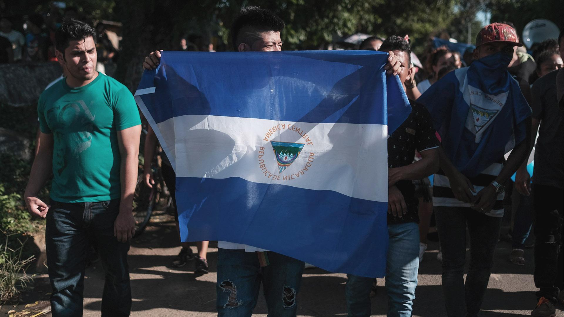 Manifestación en Nicaragua. Foto de EFE
