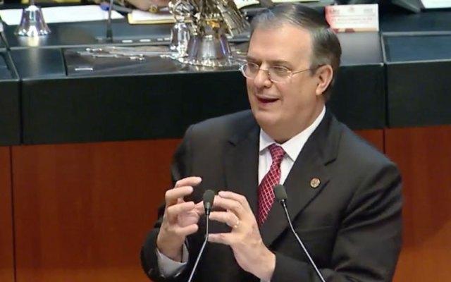 Marcelo Ebrard comparece ante el Pleno del Senado - marcelo ebrard