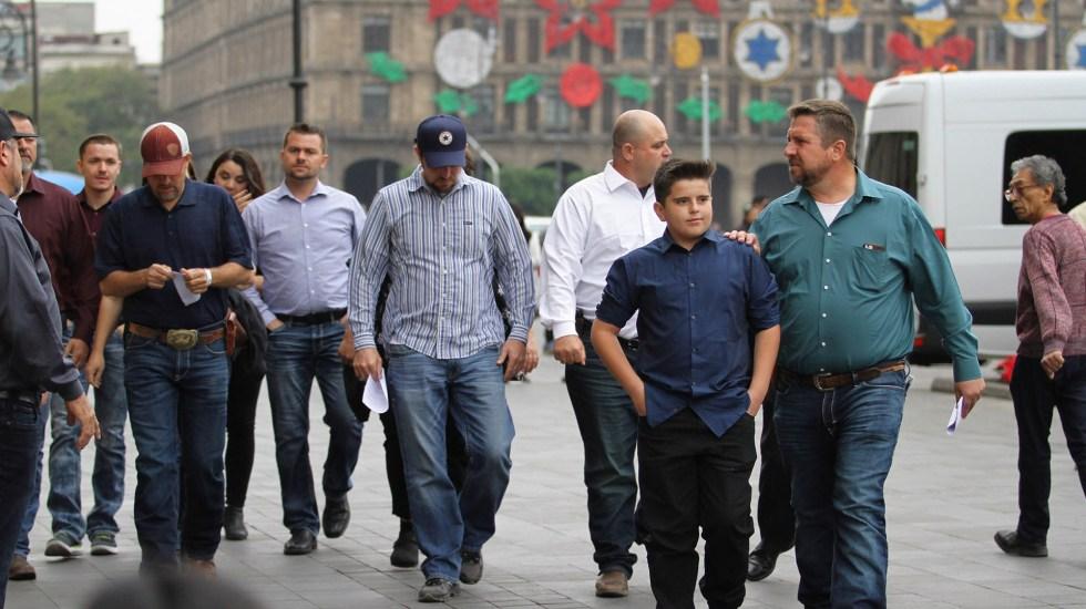 Reunión entre familia LeBarón y López Obrador será el 12 de enero - Miembros de la familia LeBarón y Langford. Foto de Notimex
