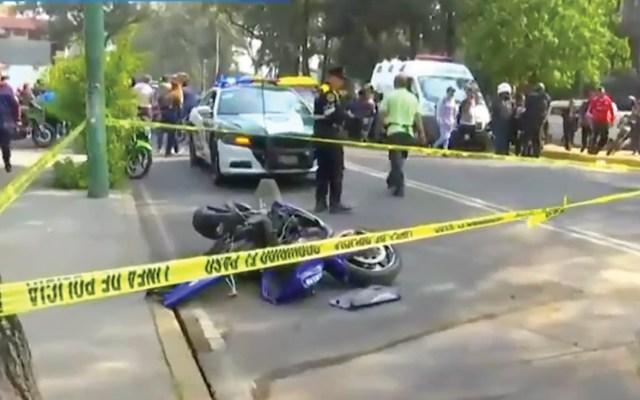 Muere motociclista al derrapar en Gustavo A. Madero - Captura de pantalla