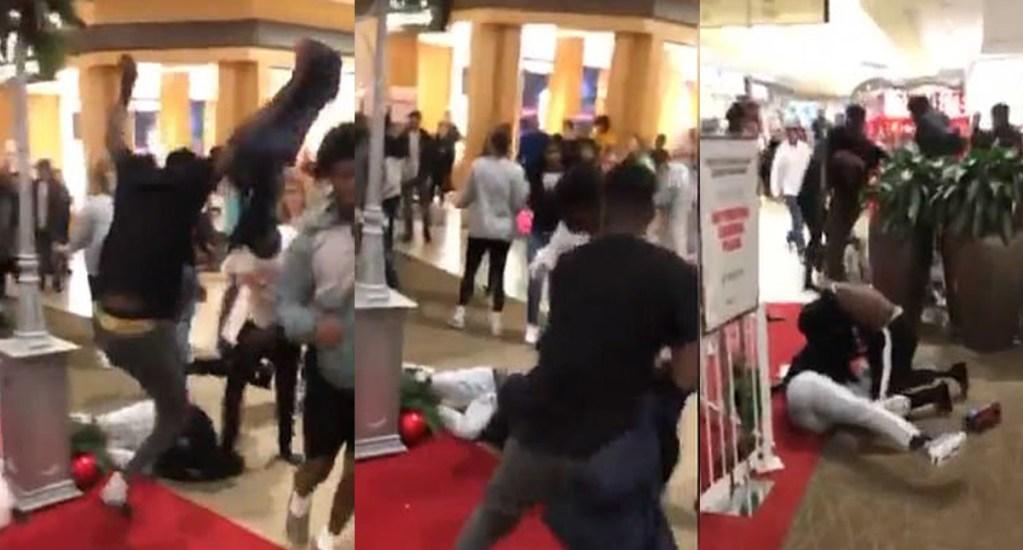 #Video Jóvenes pelean a golpes en el día de compras más grande en EE.UU. - Pelea en el Cordova Mall de Florida. Captura de pantalla