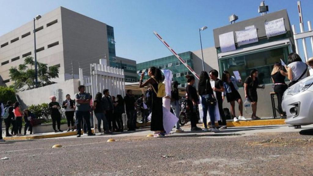 Protesta Universidad de Guanajuato. Foto de Zona Franca