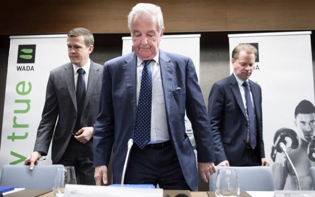Rusia rechaza decisión de excluirle durante cuatro años por dopaje - La delegación rusa en la Agencia Mundial Antidopaje. Foto de EFE/EPA/LAURENT GILLIERON/Archivo