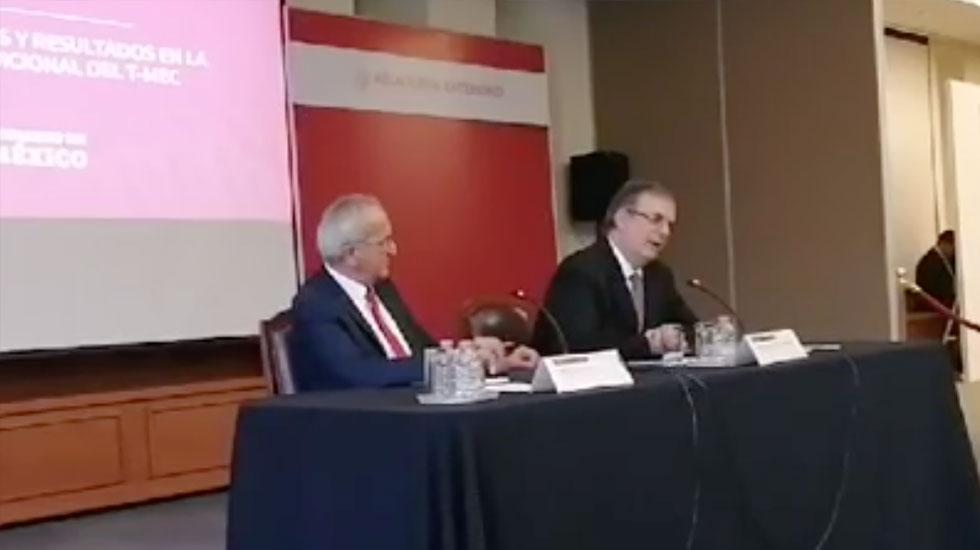 """""""Es una negociación que sale muy bien librada para México"""", Seade sobre cambios al T-MEC - Captura de pantalla"""