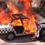 Taxista muere calcinado tras chocar contra puente en la México-Querétaro