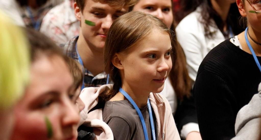 "Greta Thunberg espera que ""la cumbre del clima deje algo concreto"" - Thunberg en la COP25. Foto de @COP25CL"