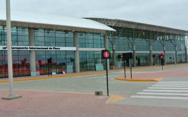 Un avión aterriza de emergencia en Perú por amenaza de bomba - Aeropuerto Pisco Perú