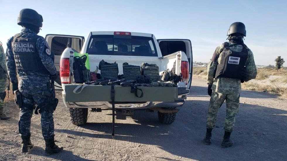 Aseguran armamento y droga en campamento clandestino de Michoacán - Aseguran armamento y droga en campamento clandestino de Michoacán