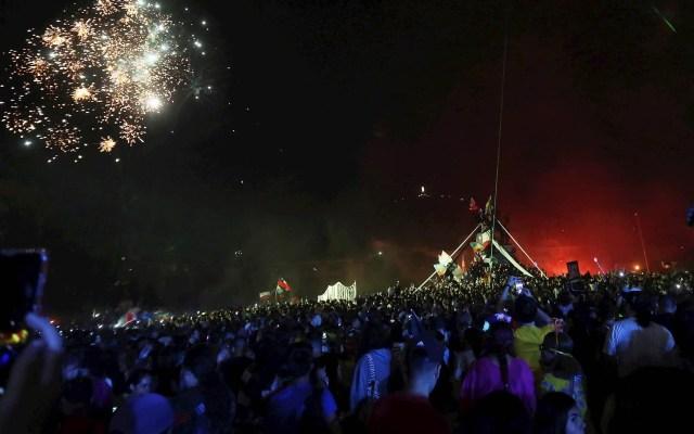 Protestas en Año Nuevo en Chile dejan 21 carabineros lesionados - Chile Año Nuevo protestas