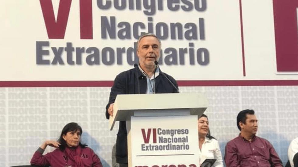 Nombran a Alfonso Ramírez Cuéllar como presidente interino de Morena - Foto de @_lopezgalvan