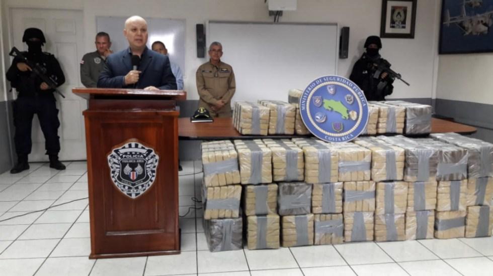 Decomisan en Costa Rica 686 kilos de cocaína en embarcación - Foto de @seguridadcrc