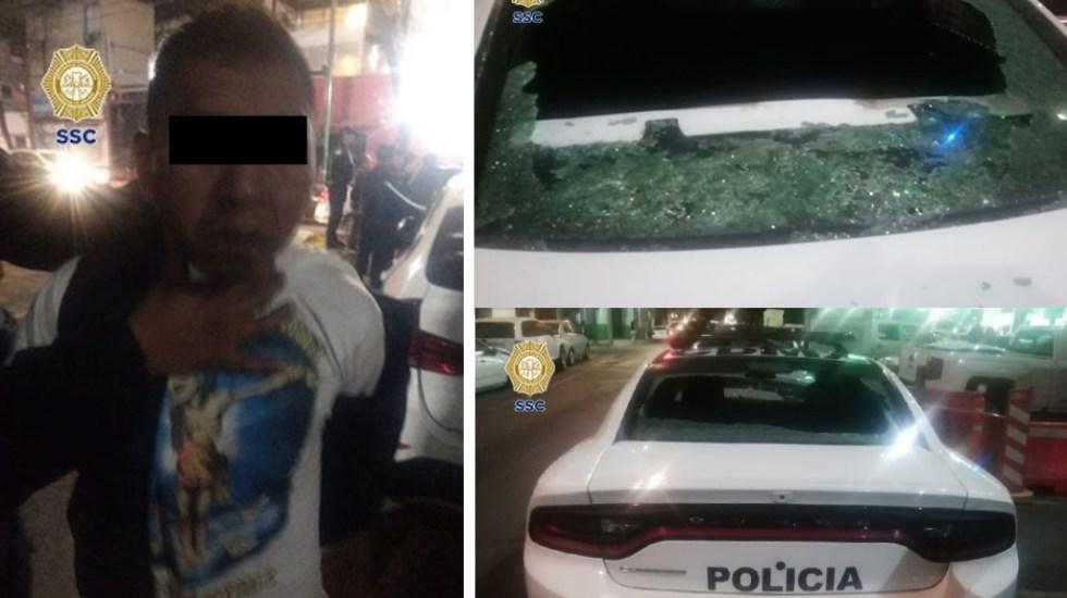 Detenidos hallan arma dentro de patrulla y disparan contra policías - Detenidos colonia Roma disparos ataque policías