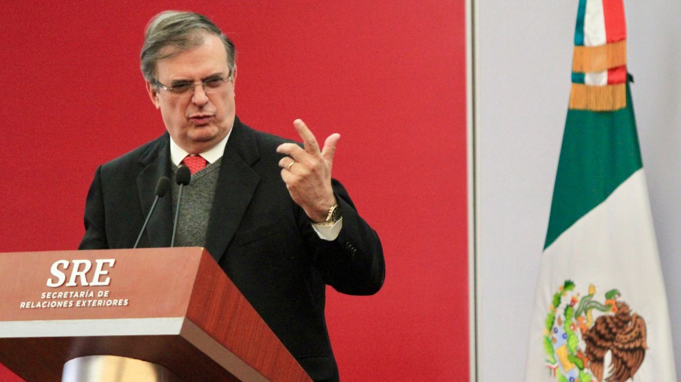 Confirma Marcelo Ebrard visita del fiscal William Barr a México - Marcelo Ebrard. Foto de Notimex