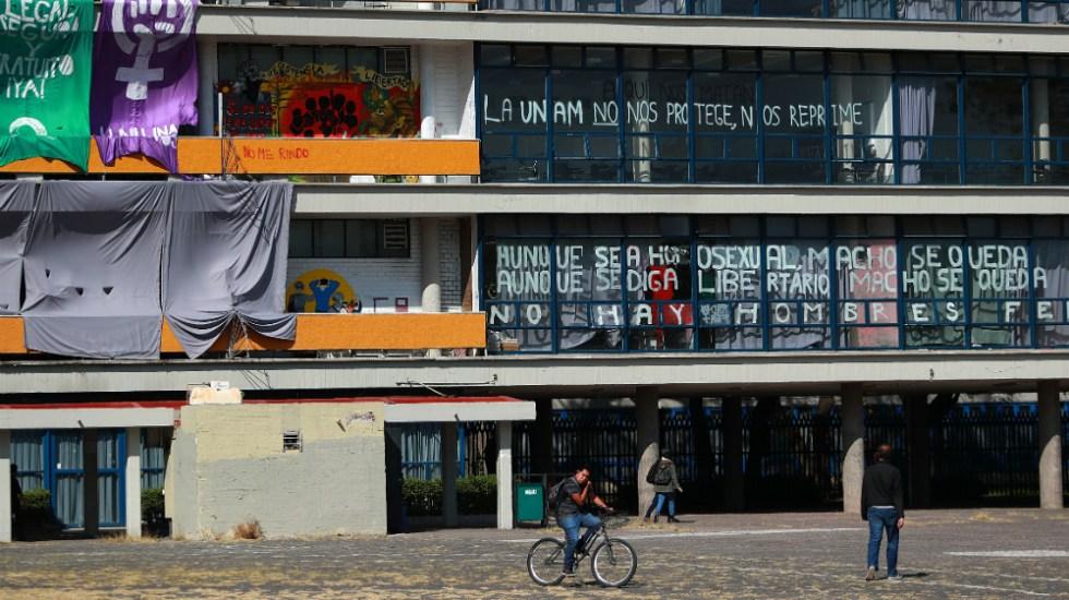 Tras diálogo, facultad de Filosofía y Letras de la UNAM sigue en paro - Foto de Notimex