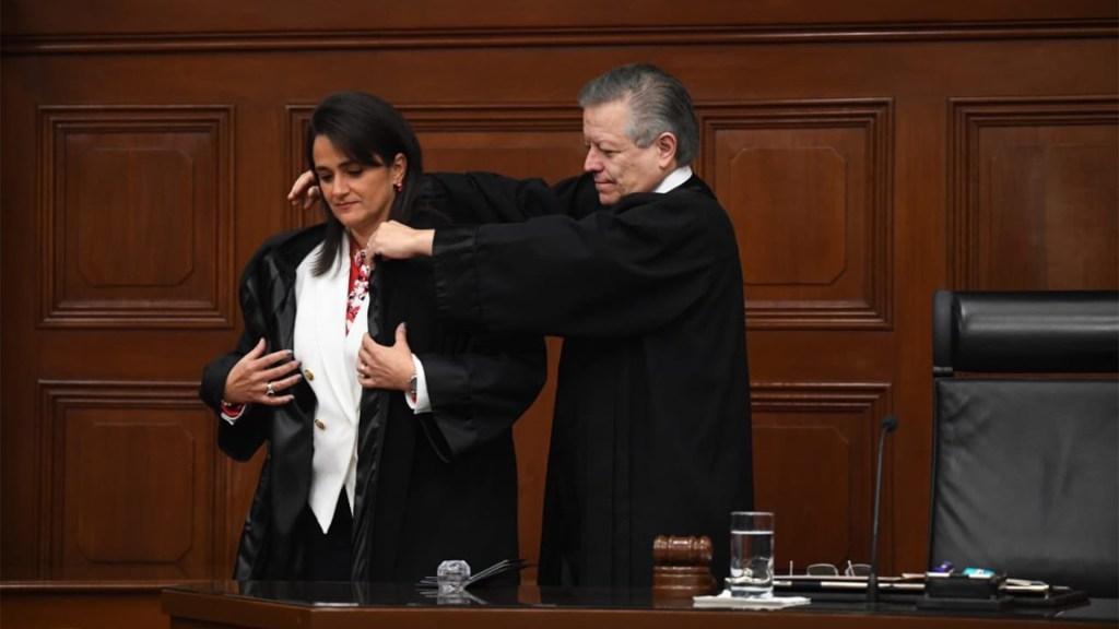Margarita Ríos-Farjat asume como ministra de la Suprema Corte - La investidura de Margarita Ríos-Farjat como ministra de la Suprema Corte de Justicia de la Nación. Foto de @SCJN