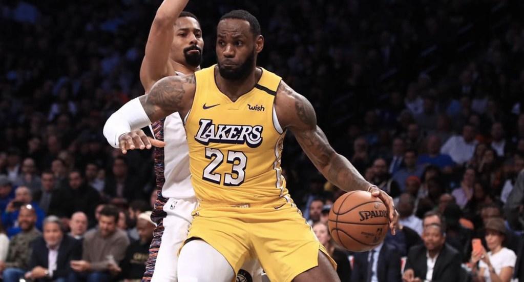 Lebron James lleva a la victoria a los Lakers sobre los Nets - Lakers Lebron James Nets Brooklyn