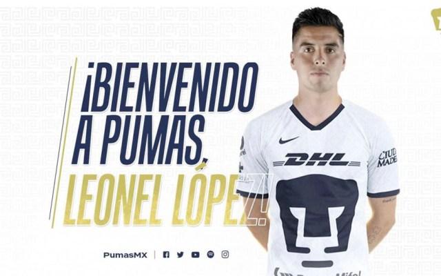 Leonel López, nuevo jugador de Pumas para el Clausura 2020 - Leonel López, nuevo jugador de Pumas para el Clausura 2020