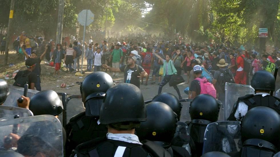 Represión contra migrantes no representa los valores de la 4T: Muñoz Ledo - Militares Guardia Nacional Chiapas Migrantes 2