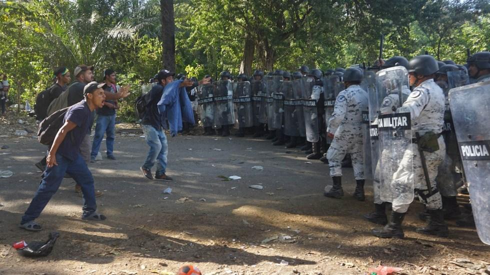 Muñoz Ledo pide la salida de Francisco Garduño del INM - Militares Guardia Nacional Chiapas Migrantes 2