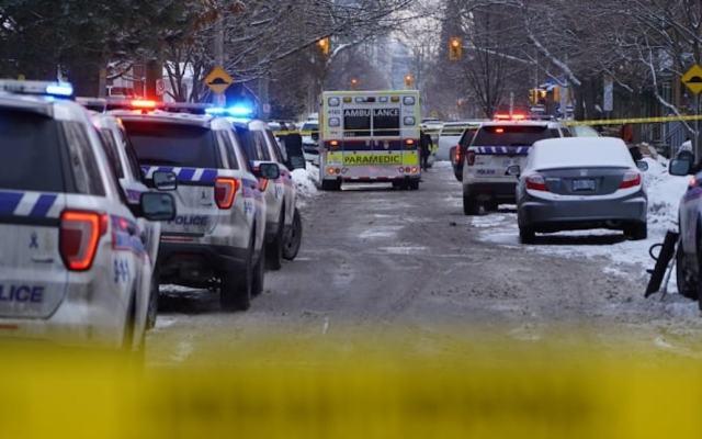 Un muerto y tres heridos de gravedad deja tiroteo en el centro de Ottawa - Los hechos en El Barrio Gilmour. Foto de cbc.ca