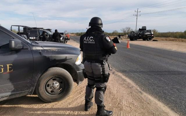 Sedena y SSP Coahuila abaten en enfrentamiento a civil armado - Policías de la Fiscalía General de Coahuila. Foto de @FGECoahuila