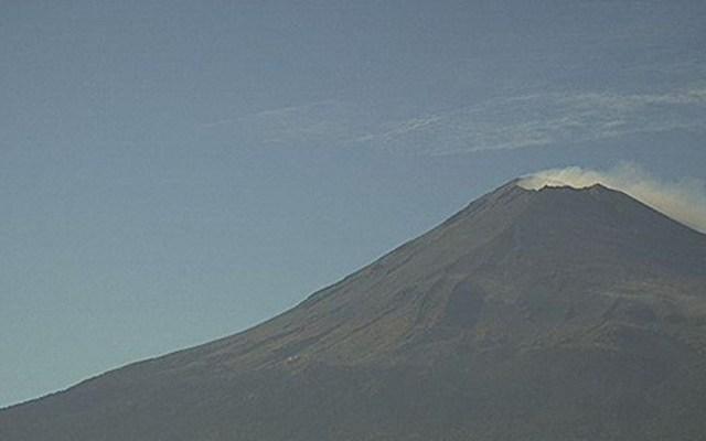 #Video Volcán Popocatépetl registra 143 exhalaciones - Volcán Popocatépetl. Foto de CNPC