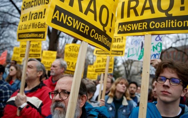 Más de 70 ciudades de EE.UU. se manifiestan contra ataque de Trump a Irán - Foto de EFE