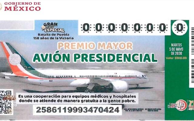 Vendidos 25.51 por ciento de 'cachitos' para 'la rifa' del avión presidencial - López Obrador retomó el tema del Avión Presidencial y mostró el 'cachito' que se imprimirá para la rifa del Avión Presidencial. Foto de Presidencia de la República.