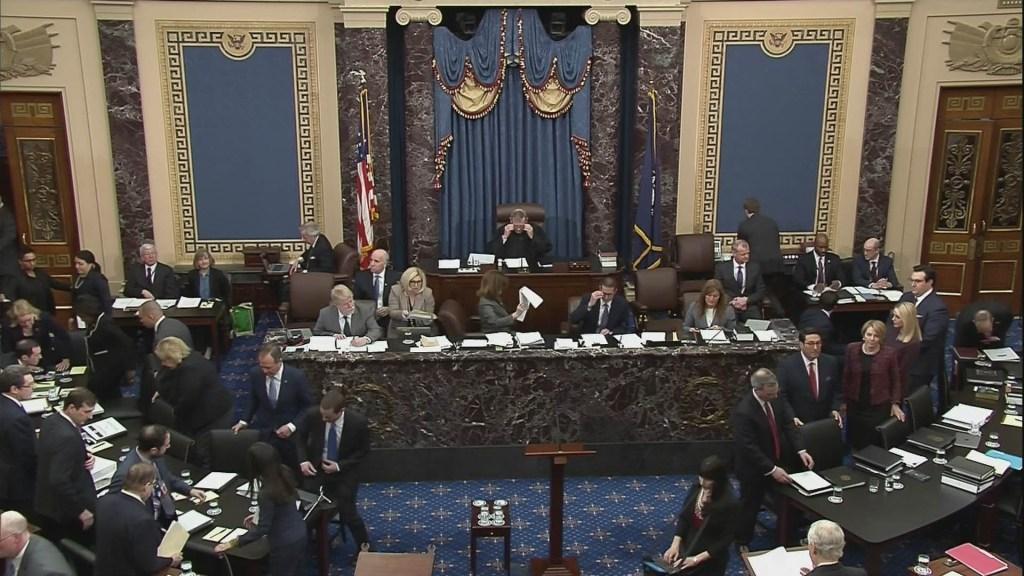 Senado rechaza moción que obligaría a Casa Blanca a entregar documentos en juicio político - Senado Estados Unidos Trump impeachment