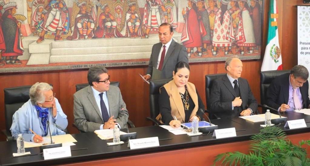 Senado recibe iniciativas de López Obrador para reformar el sistema de justicia