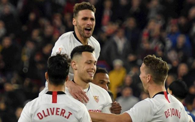 Ya sin 'Chicharito', Sevilla avanza a octavos de Copa del Rey - Sevilla Levante Copa del Rey