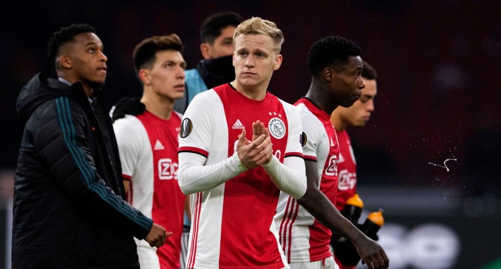"""Ajax considera """"comprensible"""" que se declare desierta la Eredivisie - Ajax queda eliminado de la Europa League; vence en la vuelta al Getafe pero pierde en el global"""