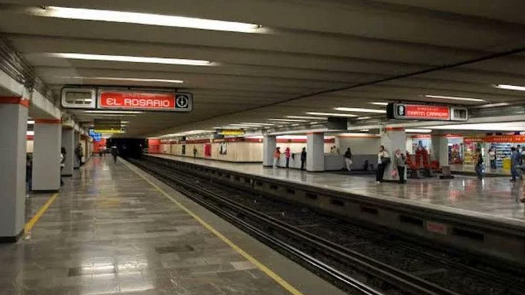 Recuperación de audífonos provoca retraso en Línea 6 del Metro - Andén del Metro Deportivo 18 de Marzo de la Línea 6. Foto Especial