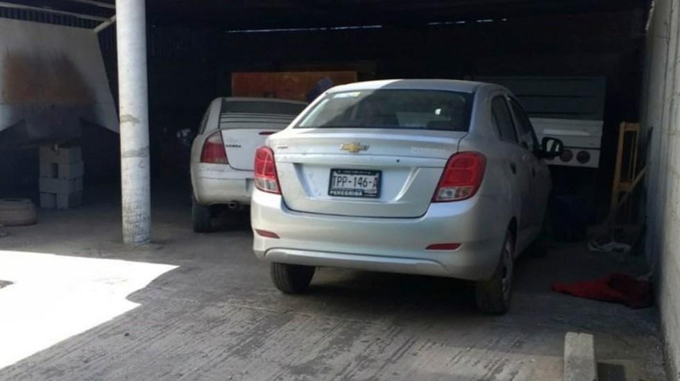 Discusión por sombrero, posible móvil de ataque a estudiantes en Huejotzingo - Auto del conductor de Uber asesinado en Puebla. Foto de @FiscaliaPuebla