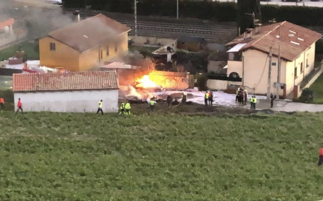#Video Se estrella avión pequeño en España - Foto de @Stevie235009301