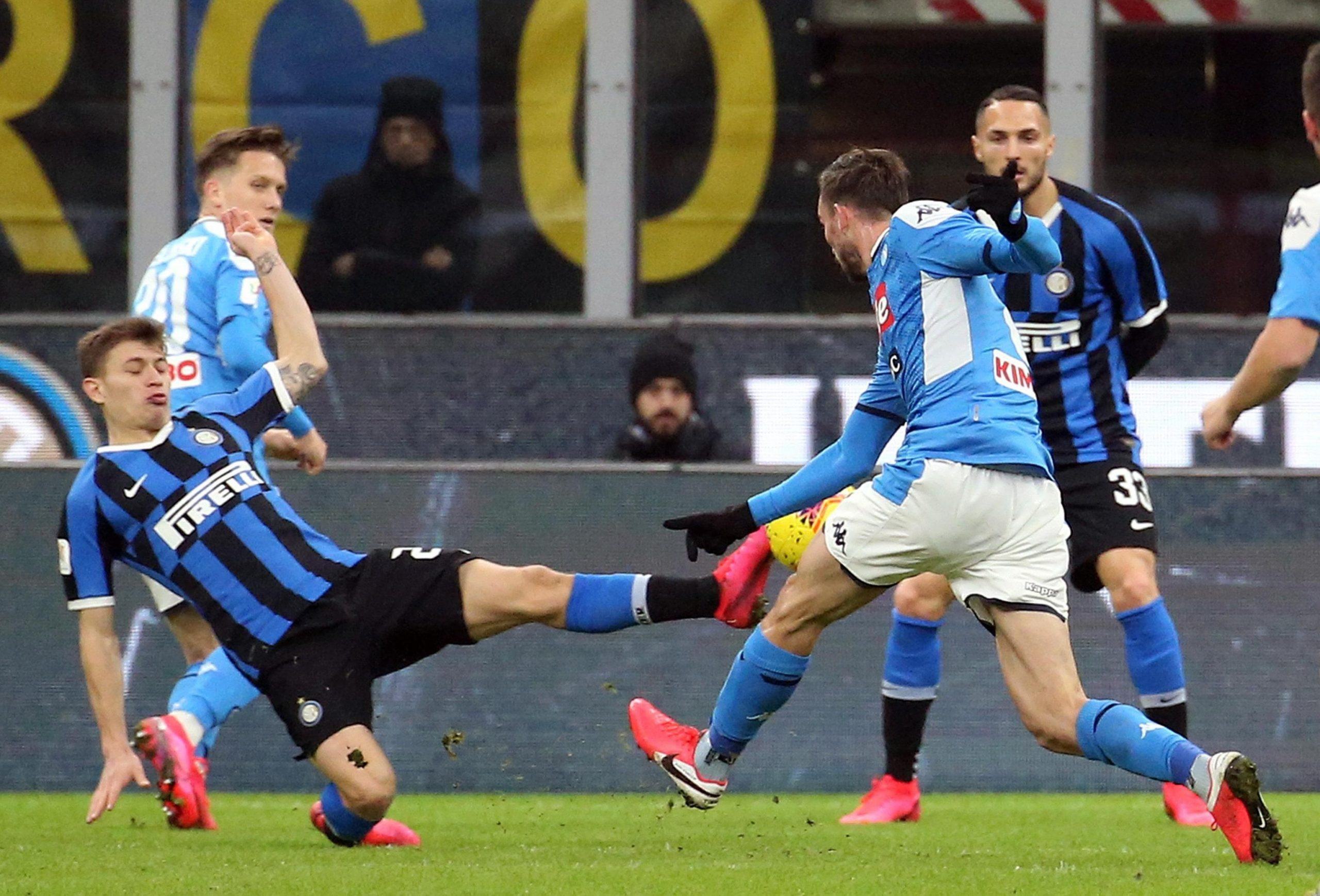 Napoli vence al Inter de Milán con golazo de Fabián Ruiz en semifinal de la Copa Italia