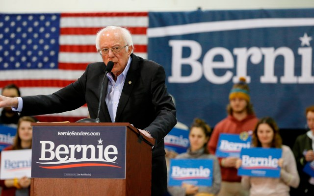 Bernie Sanders lidera las preferencias de cara al supermartes - Bernie Sanders en campaña. Foto de EFE