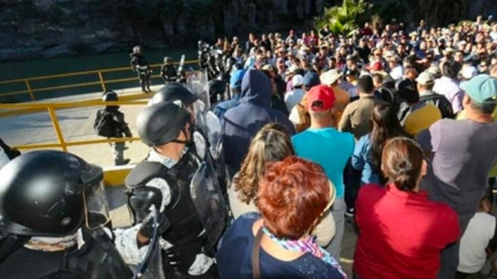 #Video Campesinos se enfrentan a GN por entrega de agua de Presa La Boquilla - Campesinos se enfrentan a la GN por entrega de agua de la Presa La Boquilla