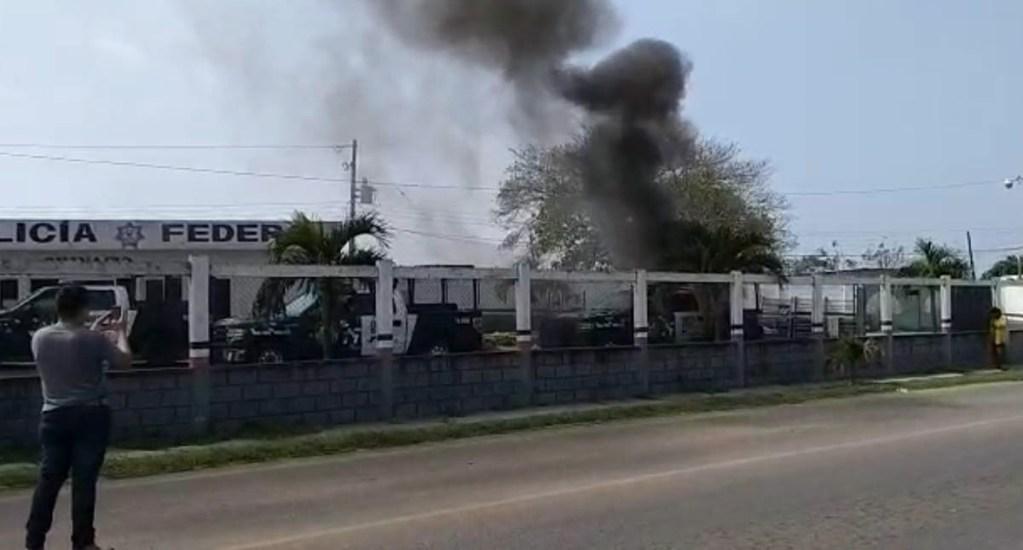 Pobladores se enfrentan a policías en Ciudad Isla, Veracruz - Ciudad Isla Veracruz manifestantes